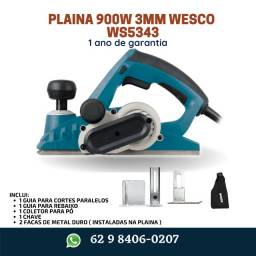 Título do anúncio: Plaina Elétrica Manual 900W Wesco Com 1 Ano de Garantia