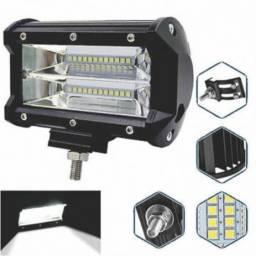 Barra LED Retangular Espelho 72w