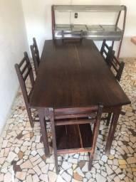 Mesa de Jacaranda 6 cadeiras