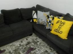 Sofa cinza de canto