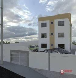 Título do anúncio: Apartamento com 2 dormitórios à venda, 52 m² por R$ 165.000,00 - Visão - Lagoa Santa/MG