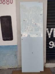 Porta pivotante com película branca nova 230x75 sem acessórios somente vidro