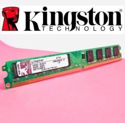 Memórias RAM Kingston 4/8GB DDR3 1600Mhz - Novas