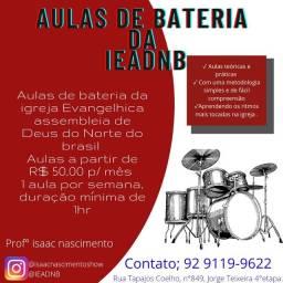 Título do anúncio: Aulas de bateria da IEADNB