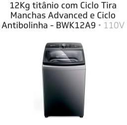Título do anúncio: Máquina de lavar roupa - Brastemp - 12 Kg - Titânio - 110V - BWK12A9 - NOVA