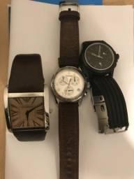 Relógios Victorinox e Empório Armani