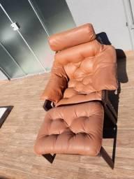 Conjunto sofá couro