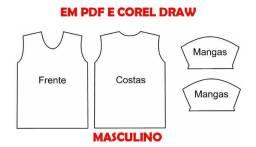 Moldes Para camisetas masculinas pdf e corel draw