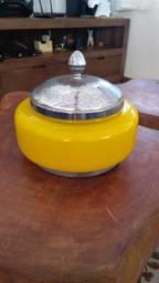 Bombonier de opalina original precisando restaurar a tampa