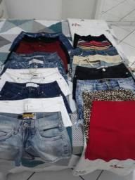 Shorts e saias 20-35 reais