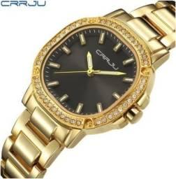Relógio Feminino Luxo Analógico Quartzo A Prova Dágua 30m(novo)