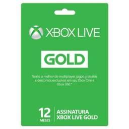 Cartão Xbox Live Gold Assinatura 12 Meses Codigo 25 Dígitos