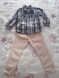 Conjunto 4 anos Calça PUC e camisa PÓINM