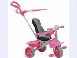 Triciclo Bandeirante Smart® Comfort Rosa Reclinável 61f1f96e5e