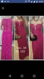 Vestido de festa rosa pink