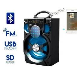 Caixa de Som A76 Altomex Bluetooth Led Usb Sd Rádio Fm Potente 15w