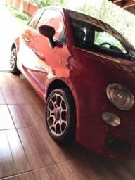 Fiat 500 Sport Air manual 105 hp completo interior vermelho