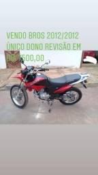 Bros 150 2012/2012 R$:7500,00 única dona moto de mulher - 2012
