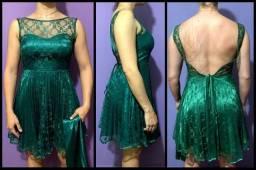 Vestido Social com Glitter