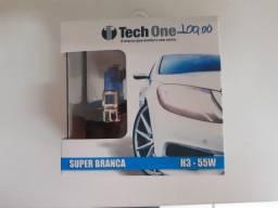Lâmpada super branca tech one h3 nova instalado no seu carro