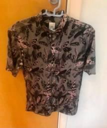 Camisa de mangas curtas estampada River Island nova