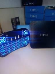 Kit TV Box + teclado com mouse