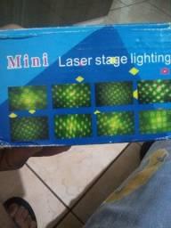 Mini laser e luz de led giratório
