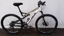 Bicicleta Caloi Elite FS ( Full suspension ) cambio shimano slx 30v aro 29 tamanho 20