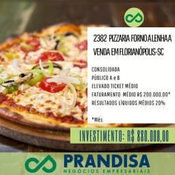 ID 2382 Pizzaria rentável e consolidada no Centro nobre de Floripa