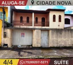 Ótima Casa-4/4-Na Cidade Nova-Com Suíte-Feira de Santana-Ba