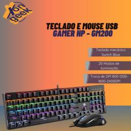 Kit teclado e mouse gamer GM200 - HP | Lacrado com garantia