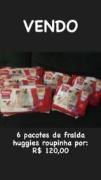 6 pacotes fralda Huggies fraldinha tam- M