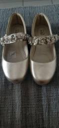 Sapato social dourado tam 30