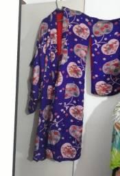 Kimono artesanal oriental costurado à mão