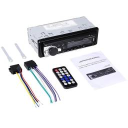 Radio para carro USB, Bluetooth, cartão de memória, Auxiliar e FM
