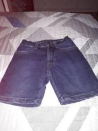 bermunda jeans 2 anos