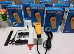 Inova Maquina de cortar cabelo 110v kit produto novo entregamos em Poa-rs