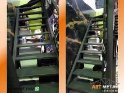 Título do anúncio: Escada Ferro, escadas retas, Escadas caracol, escadas acesso mezanino.