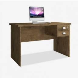 Mesa pra computado com duas gavetas e chave Taurus