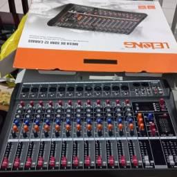 Mesa de som 12 canais nova nunca usada