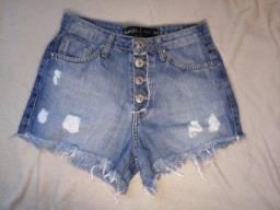Short Jeans - Cintura alta - 34
