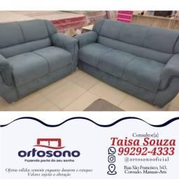 Título do anúncio: sofá sofá && sofá 2 e 3 lugares entrega grátis e garantia