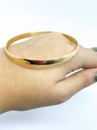 Bracelete maciço em ouro 18k