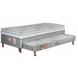 cama box solteiro D28 com auxiliara allfléx