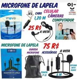 Microfone de Lapela - Microfone Portátil para Live e Filmagens ( Loja Fisica 221 ).