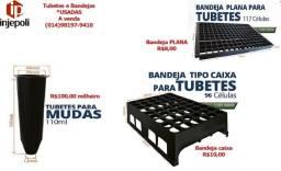 Título do anúncio: Tubetes e Bandejas USADAS para mudas 110ml