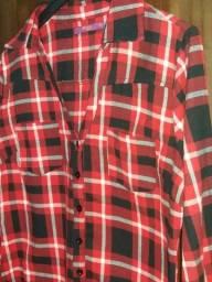 Camisa xadrez feminina Tam.42