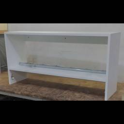Cabideiros Arara Nicho Parede MDF Branco 70cm Montado- RMOB