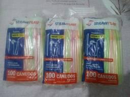Canudos flexíveis Neon 100 unidades