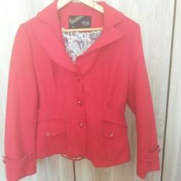 Casaco de lã batida vermelho tamanho M Novo